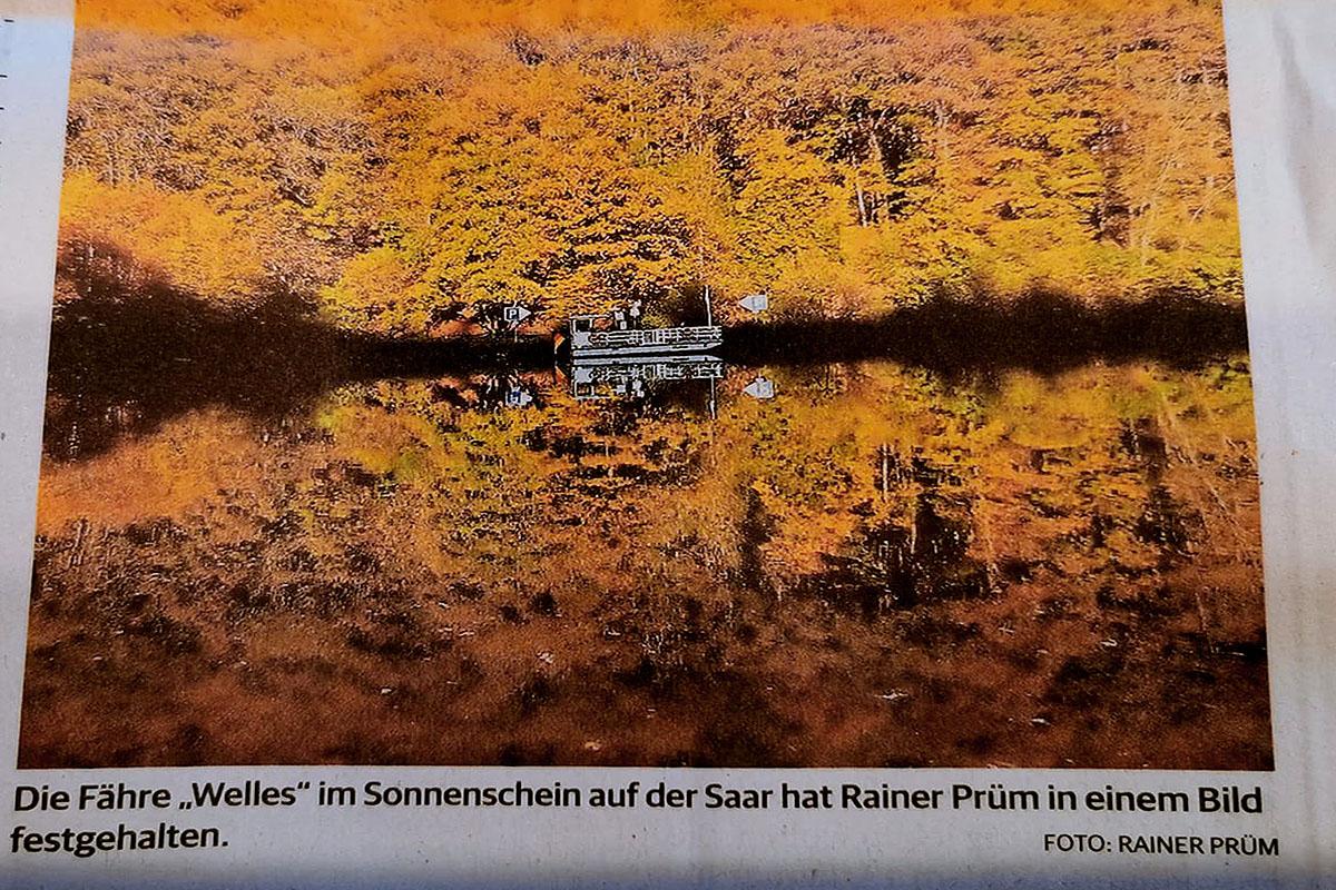 Saarbrücker Zeitung veröffentlicht weiteres Foto von Marketingfachmann Rainer Prüm