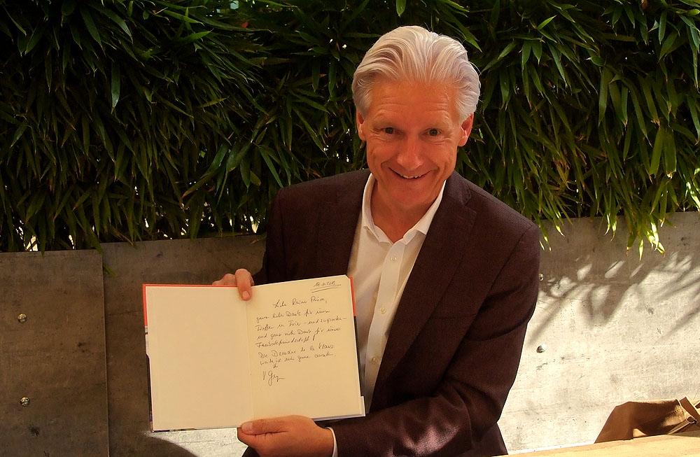 Marketingfachmann Rainer Prüm im Gerspräch mit marketingorientiertem Malermeister Volker Geyer in Trier.